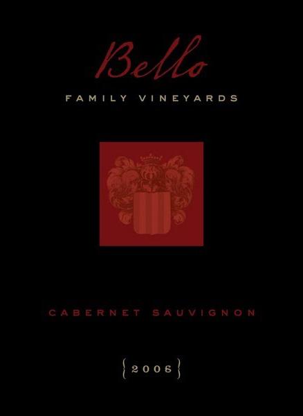 2006 Bello Family Vineyards Napa Cabernet Sauvignon