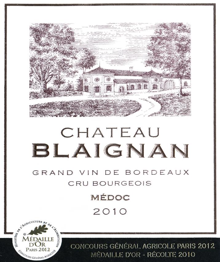 2010 Chateau Blaignan Medoc