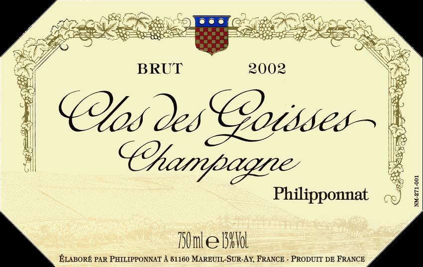 2002 Philipponnat Brut Clos Des Goisses