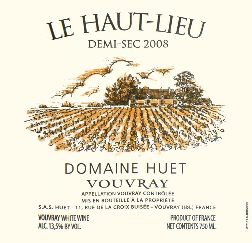 2008 Domaine Huet Le Haut Lieu Demi Sec Vouvray