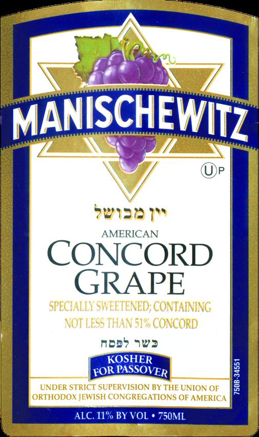 Manischewitz Concord (U)P