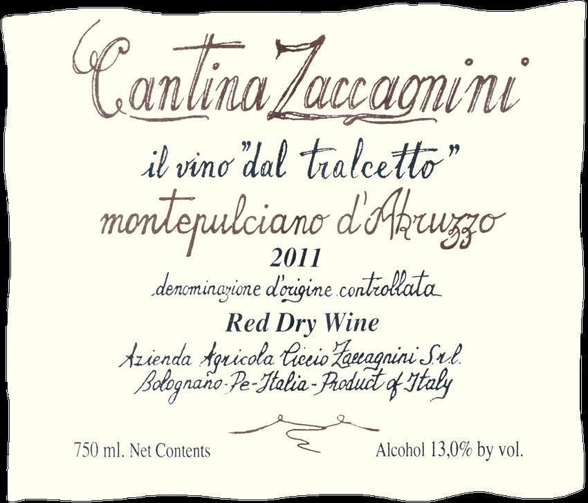 2011 Cantina Zaccagnini Montepulciano D'abruzzo