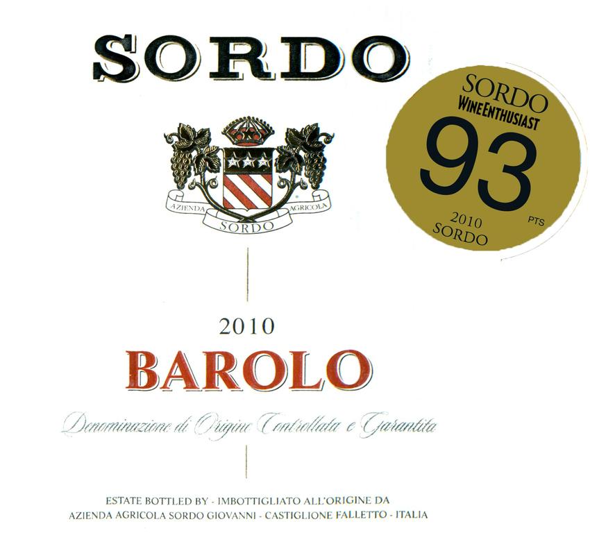 2010 Sordo Barolo