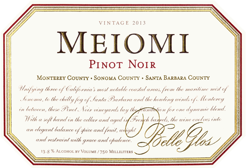 2013 Belle Glos Meiomi Pinot Noir