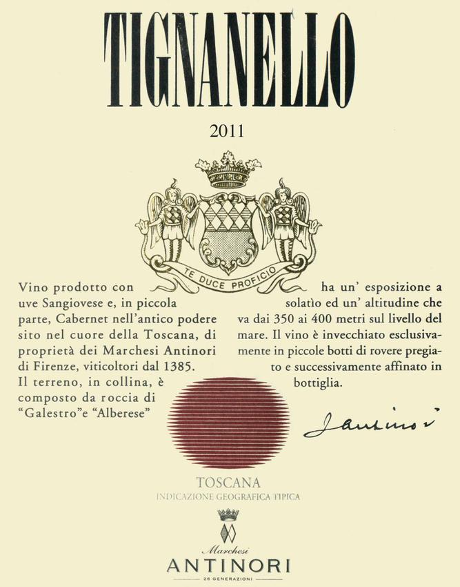 2011 Antinori Tignanello