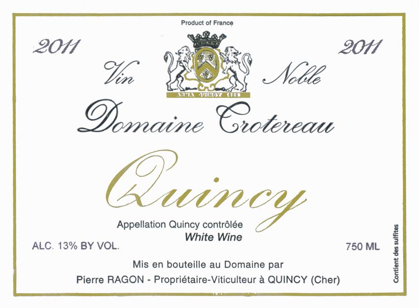2011 Domaine Trotereau Quincy