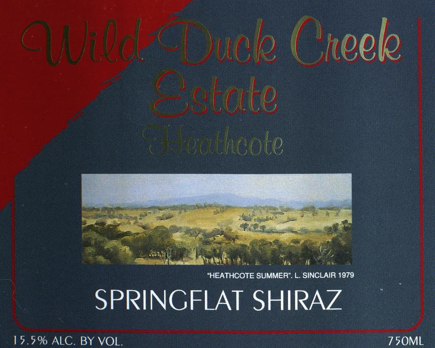2010 Wild Duck Creek Springflat Shiraz