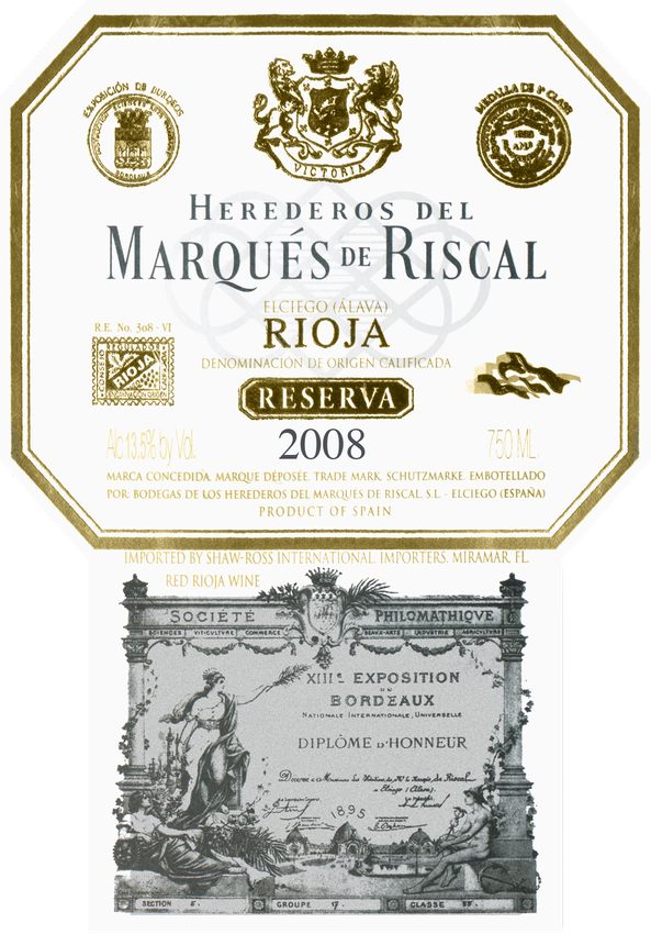 2008 Marques De Riscal Rioja Reserva