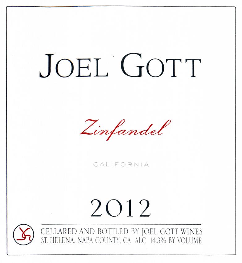 2012 Joel Gott Zinfandel