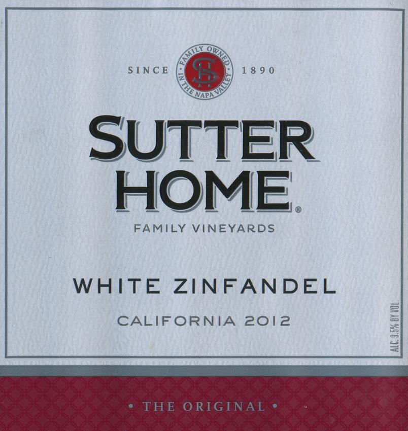 2012 Sutter Home White Zinfandel