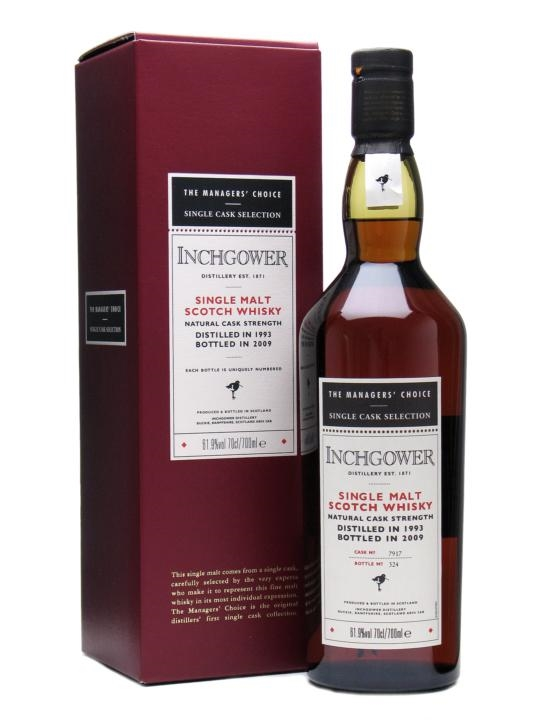 Inchgower 1993 Managers' Choice Sherry Cask