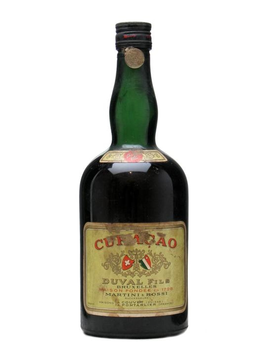 Duval Fils Curacao Martini & Rossi Bot.1950s
