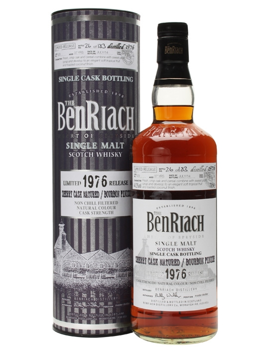 Benriach 1976 37 Year Old Bourbon Finish Cask #529