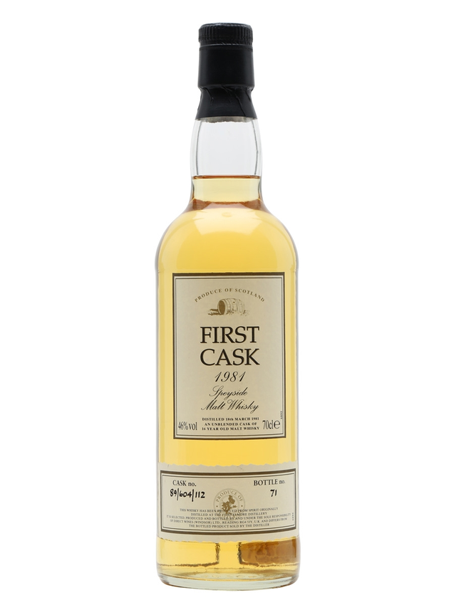 Convalmore 1981 16 Year Old First Cask