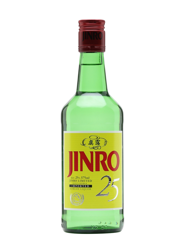 Jinro 25 Soju Half Bottle