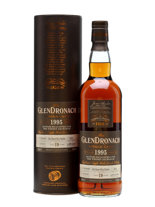 Glendronach 1995 19 Year Old PX Puncheon TWE Exclusive