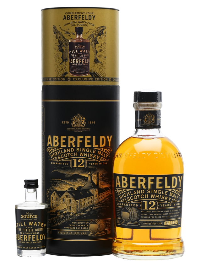 Aberfeldy 12 Year Old + Uisge Source Water Btl