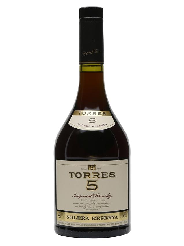 Torres 5 Solera Reserva Imperial Brandy 5 Year Old Litre