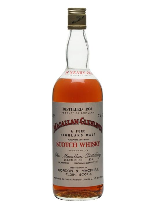 Macallan-Glenlivet 1950 25 Year Old Gordon & Macphail