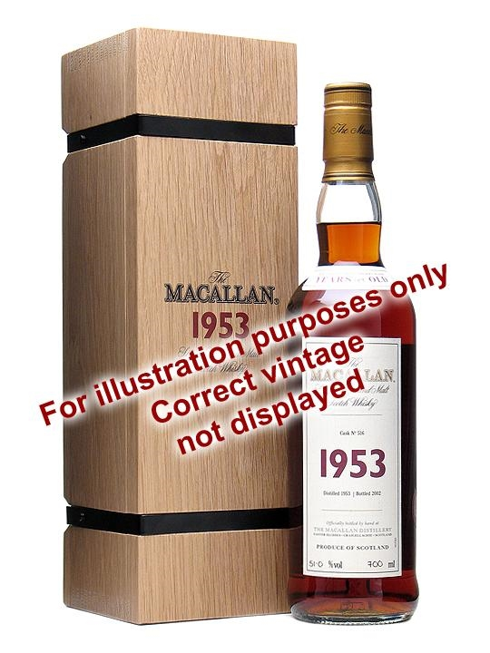 Macallan 1950 52 Year Old Fine & Rare Cask #600