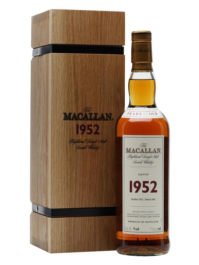 Macallan 1952 50 Year Old Fine & Rare #627