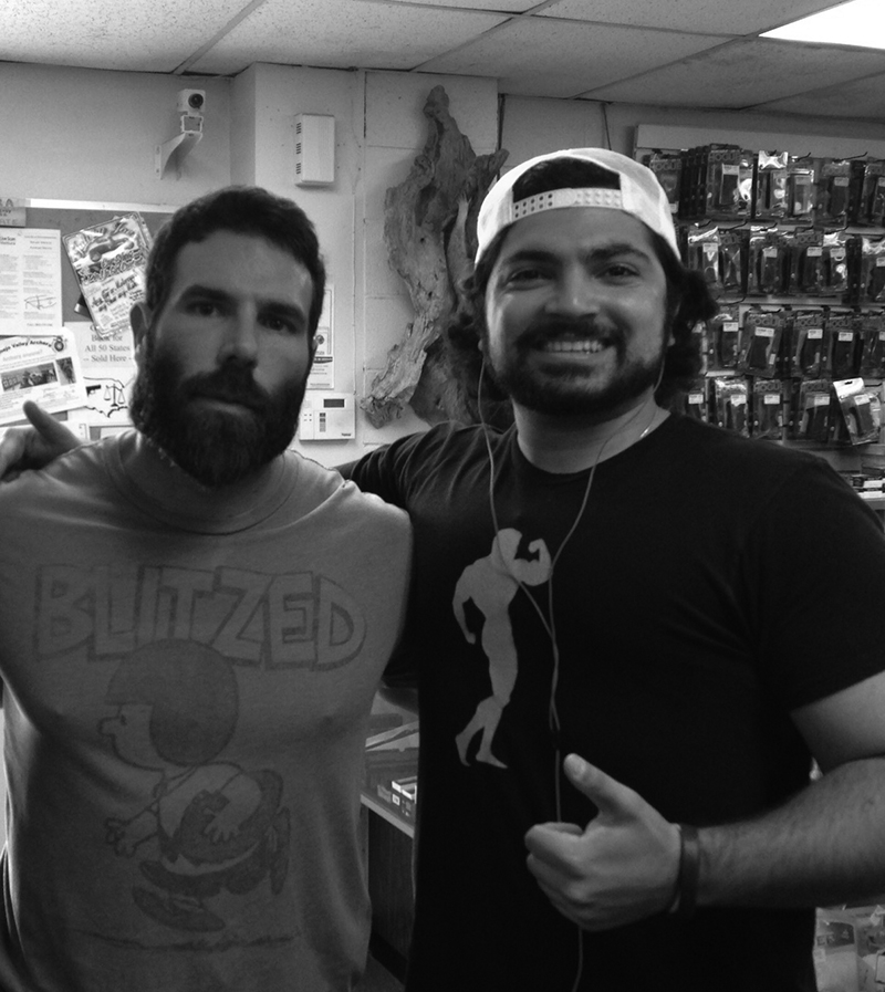 With Dan Bilzerian at a Gun Shop in Camarillo, California