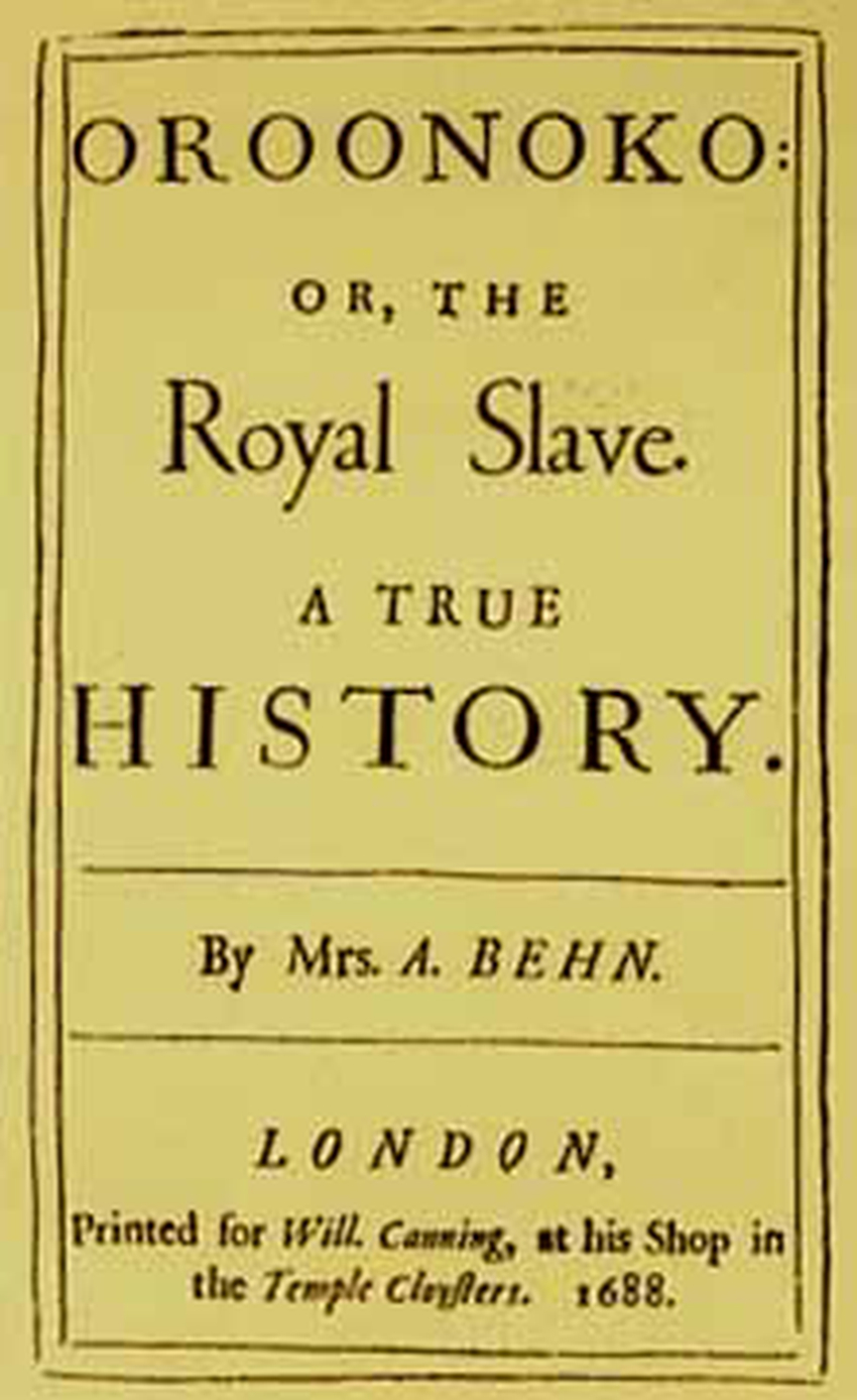an analysis of african american slave in aphra behns oroonoko Video: oroonoko by aphra behn: summary, characters, themes & analysis 'oroonoko' is an early example of the novel genre, written by aphra behn and published in 1688 the story concerns the grandson of an african king, his life and death as a slave, and his ill-fated love for the young woman, imoinda.