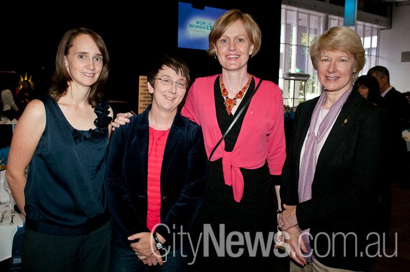 Gillian Bradford, left, pictured on International Women's Day