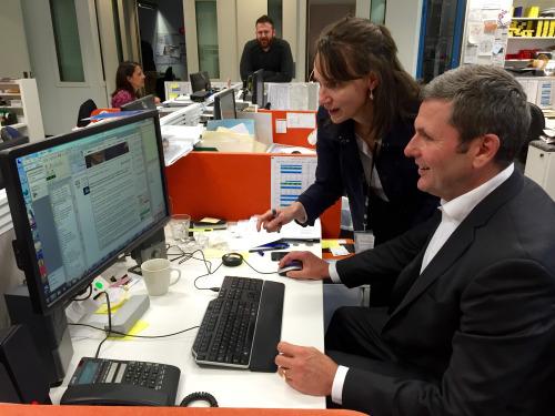 Bradford with Political Editor, Chris Uhlmann.