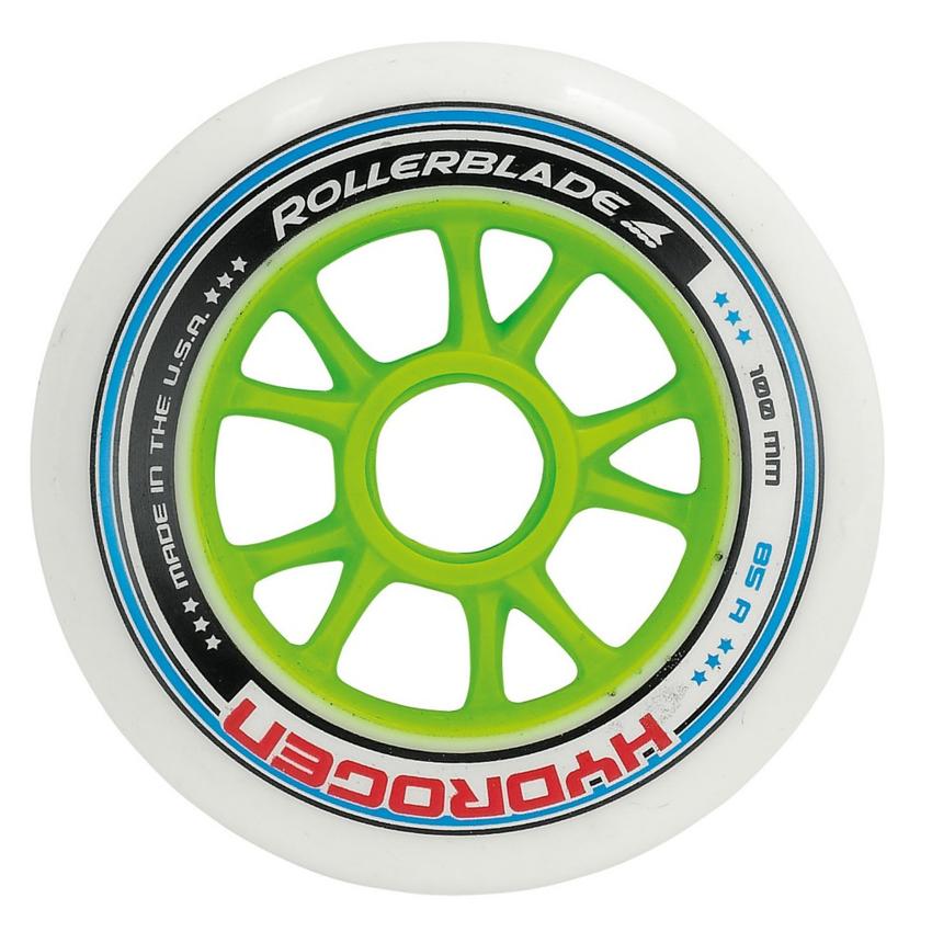 Rollerblade Hydrogen 6x100 2x90 85A Inline Skate Wheels - 8 Pack 2016