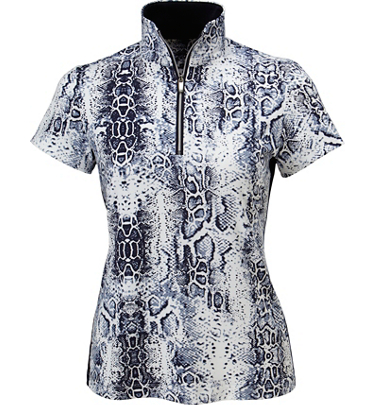 Tail Women's June Printed Short Sleeve Mock