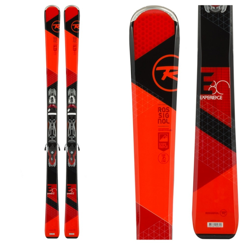 Rossignol Experience 80 Skis with Xelium 110 Bindings 2016