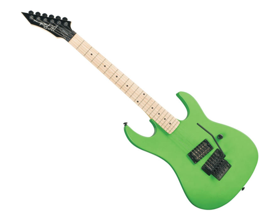 BC Rich Retro Gunslinger Left Handed Elecltric Guitar GRGLH Neon Green B-Stock