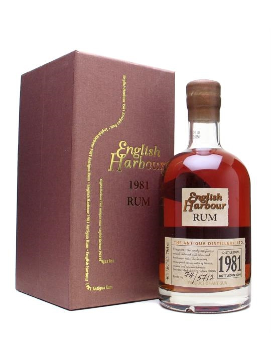 English Harbour 1981 25 Year Old Rum