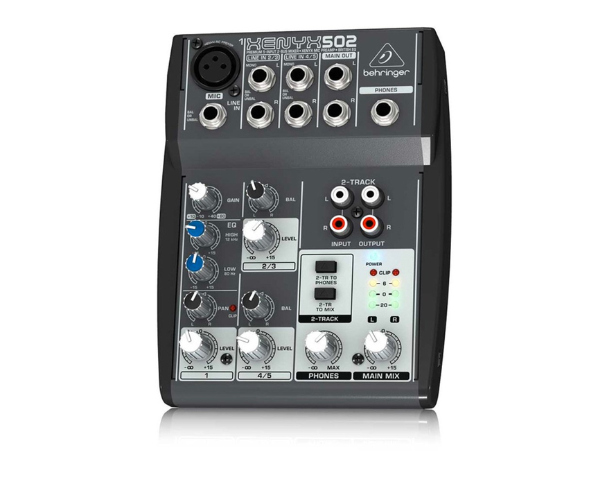 Behringer XENYX 502 5-Channel Compact Audio Mixer