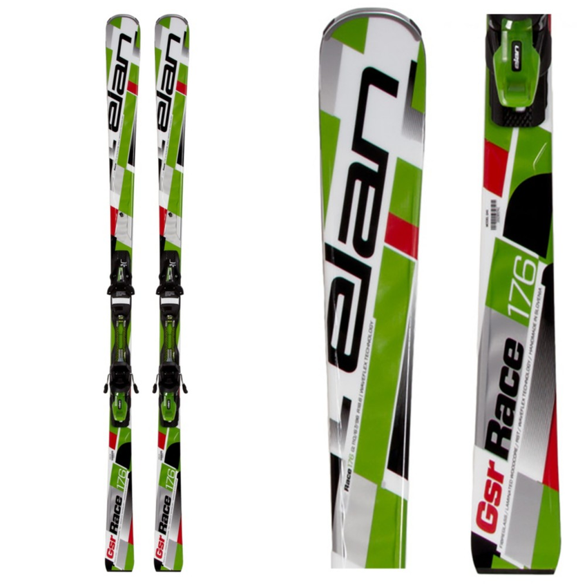 Elan GSR WaveFlex Green Race Skis with EL 10.0 QT Bindings