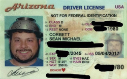 arizona drivers license not for federal identification