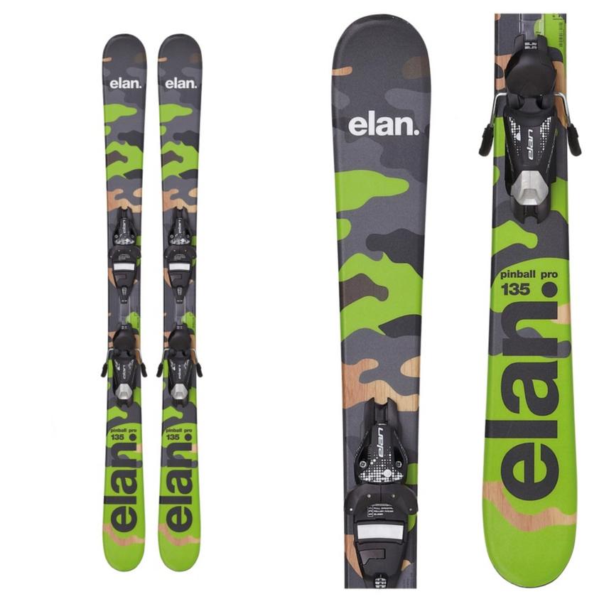 Elan Pinball Pro Kids Skis with 7.5 QT Bindings 2016