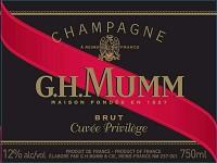 G. H. Mumm Champagne Brut Cuvee Privilege