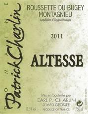 Patrick Charlin Roussette du Bugey Montagnieu Altesse 2011