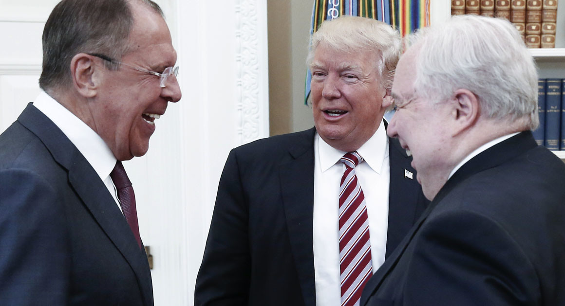Trump With Russian Ambassador to the United States.