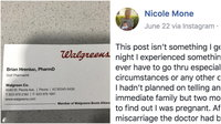 A screenshot of Nicole Arteaga's original social media post describing the situation.