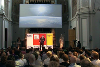 Keynote on the Future of Spaceflight, broadcast live to 108 cities around the world
