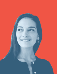 Photo of Julia Salazar that is found on her website.