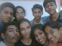 Pavan and his classmates in Hotel Amogha International, Chitradurga 2015.