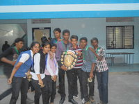 Pavan with his class mates while awarded synergy runner up 2015 in Chitradurga.