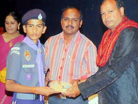 Pavan awarded 26th Karnataka State Jamboorate in bangalore 2012