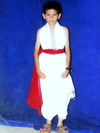 Behind the stage in Rangamandira, Chitradurga year 2006.