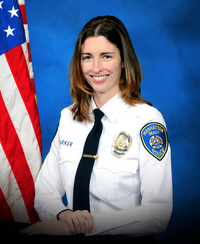 The professional photo of Rachael Parker from the Manhattan Police Department.