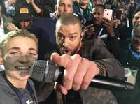 Selfie of Ryan McKenna and Justin Timberlake.